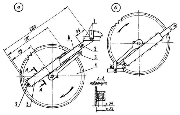 Велосипед с телескопическими шатунами