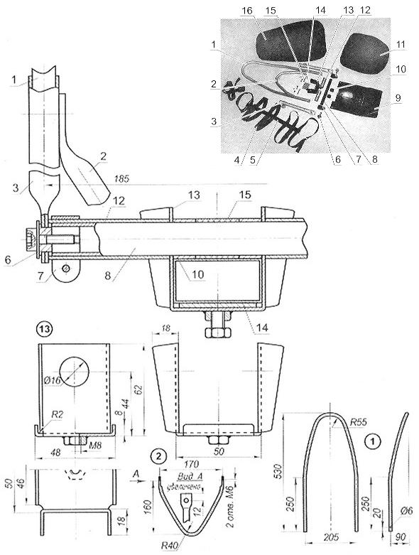 Комплект деталей сиденья
