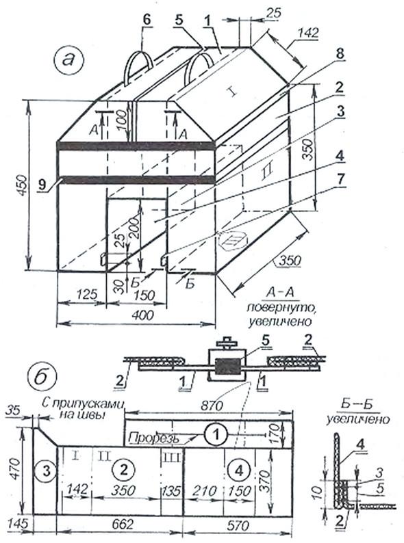 Веловьюк и расположение заготовок на полотне для раскроя